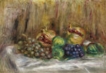 tablou renoir - still life with granates, figs and grapes