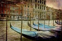 tablou venetia, vintage,  italia (150)