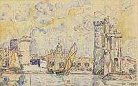 tablou paul signac - the port of la roshelle