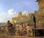 tablou dujardin, karel - a party of charlatans in an italian landscape