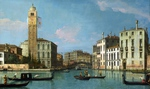 Tablou canaletto - venice s. geremia and the entrance to the cannaregio (2) (1726)