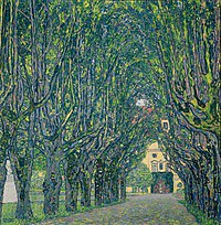 tablou Gustav Klimt - alley in the park of the palace kammer (1912)