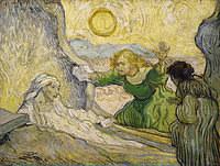 tablou van gogh - raising of lazarus (after rembrandt), 1889