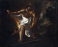 tablou francisco de zurbaran - cycle of hercules. death of hercules (1634)