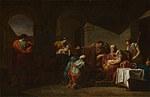 tablou jean francois pierre peyron - belisarius receiving hospitality from a peasant