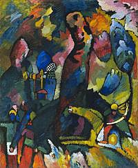 tablou vasily kandinsky - picture with an archer