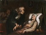 tablou honore daumier - the imaginary illness