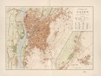 tablou general map of cairo, 1920