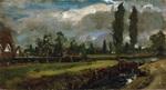 tablou john constable - landscape with a river