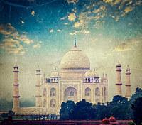 tablou taj mahal, india (5), vintage