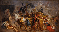 tablou rubens - the triumphal entry of henry iv in paris (1627)