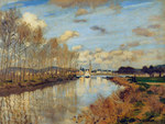 tablou claude monet   argenteuil, seen from the small arm of the seine, 1872