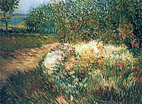 Tablou canvas van gogh - corner of voyer d'argenson park at asnieres, 1887