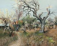 tablou marcel dyf - orchard at ile de france, 1960