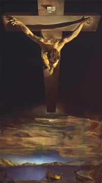 tablou dali - christ of st john of the cross