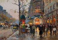 Tablou canvas edouard cortes - theatre du vaudeville