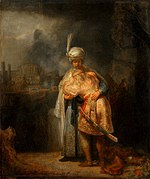 tablou rembrandt - david and jonathan (1642)