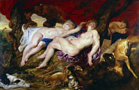 Tablou canvas rubens - diana with nymphs