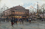 tablou eugene galien laloue - place de chatelet(4), paris