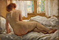 tablou emanuel phillips fox - nude bathed in sunlight