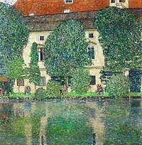 tablou Gustav Klimt - palace kammer on the attersee ii (1910)