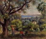 Tablou canvas Renoir - cagnes landscape, 1895