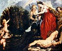 tablou rubens - juno and argus (1611)