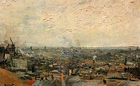 Tablou canvas van gogh - view of paris from montmartre