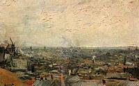 tablou van gogh - view of paris from montmartre