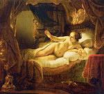 Tablou canvas rembrandt - danae (1636)