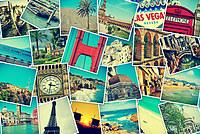 tablou in jurul lumii, vintage, colaj (1)
