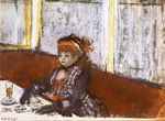 tablou 1877  edgar degas - jeune femme au cafe