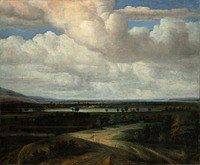 tablou philips koninck - panoramic landscape of the manor (1649)