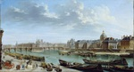 tablou ragne nicolas jean baptiste - view of paris to the island of shite, 1763