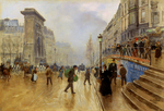 Tablou canvas jean beraud - le boulevard saint denis a paris