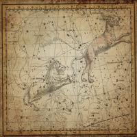 tablou star constellation, astrology map, 1820 (2)