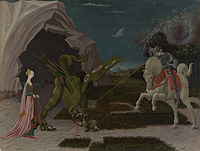tablou paolo uccello - saint george and the dragon