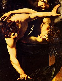 Tablou canvas caravaggio - seven acts of mercy (detail)