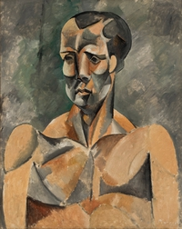 tablou picasso - bust of a man (the athlete), 1909