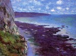 tablou claude monet   cliff near dieppe, 1882