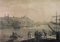 Tablou canvas galati, port (1)