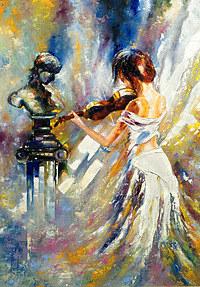 Tablou canvas violonista (1)