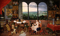 tablou rubens - allegory of the five senses. hearing (together with jan brueghel the elder) (1617)