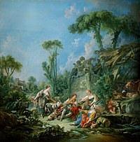 tablou francois boucher - idyll (1768)