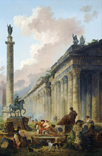 tablou hubert robert - imaginary view of rome