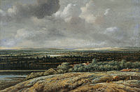 tablou philips koninck - panoramic landscape (1655)