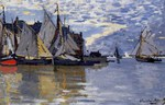 Tablou canvas claude monet   sailboats, 1864 66