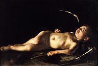 Tablou canvas caravaggio - sleeping cupid (1608)