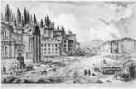 tablou piranesi - roma antica, alb negru 11