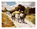 tablou nicolae grigorescu - car cu boi 2